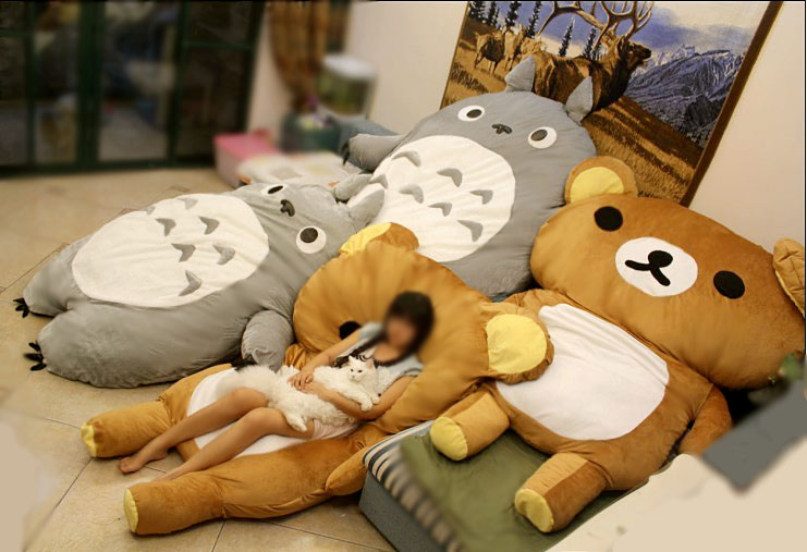 FREE SHIPPING - Big Huge Cute Models 220CM Totoro Bed Sleeping Bag Sofa Christmas Gift Kid